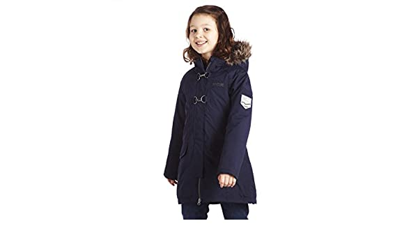 0edd9c6524fc Regatta Girls Greta Waterproof Parka Jacket RKP090 Navy  Amazon.de ...