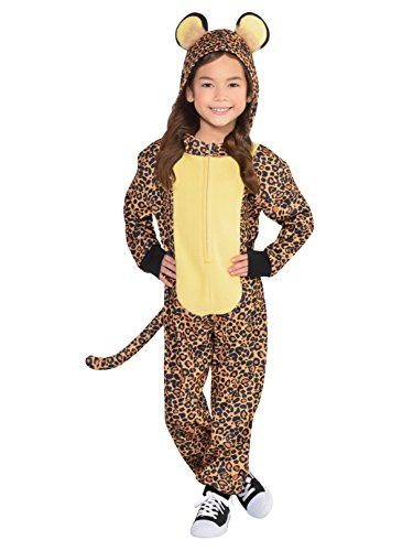 Leopard Kids Fancy Dress Safari Zoo Animal Book Day Girls Boys Childs Costume (Age 4-6 Years)
