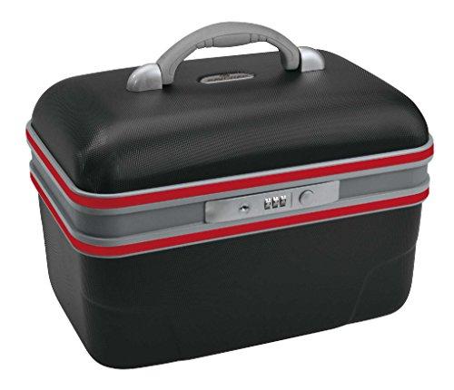 Savebag - Vanity rigide 34 cm - Capacité : 13 Litres (Noir / Rouge)