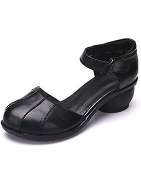 Primavera e l'estate sandali rough con fibbia scarpe