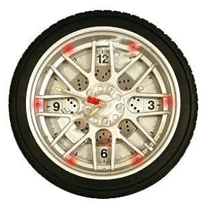 Horloge Roue de Voiture Silver - Horloge lumineuse