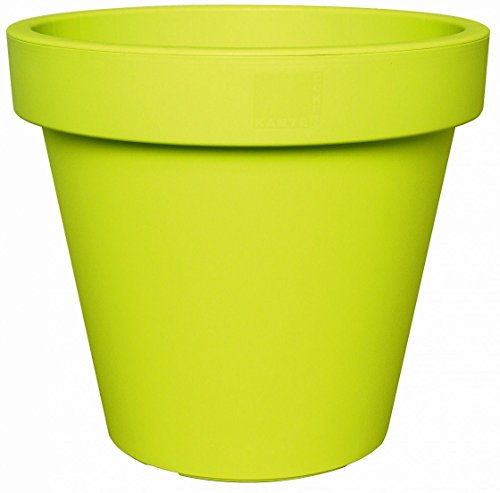 Bright Coloured Plant Pots Large Medium Small Planters Pink, Lime Green & Teal (25cm, Lime Green)
