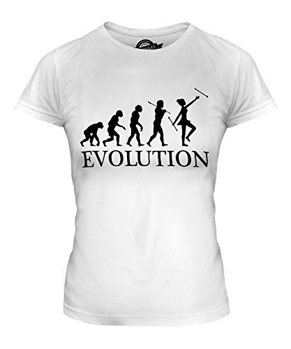Candymix Baton Twirling Evolution des Menschen Damen T Shirt, Größe Small, Farbe ()