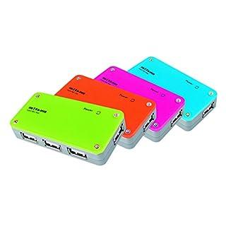 APM France 100135 2.0 USB Hub 4 Ports Multicoloured