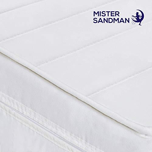 Mister Sandman Matelas Pas Cher 7 Zones de Confort Sommeil réparateur - Mousse fermeté H2&H3 réversible, Housse Microfibre Lavable, épaisseu... 6