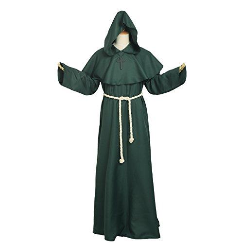 Grün M Und M Kostüm - BLESSUME Priester Mönch Kostüm Robe Mönch