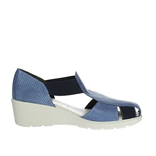 Cinzia Donna 8150 Sandalo Morbido Blu qxOTwCqrU