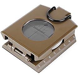 ZWYY Boussole, Multifonctionnel métal Boussole Militaire imperméable Haute précision clinomètre Compas inclinomètre pour la randonnée Camping Escalade Exploration géologie