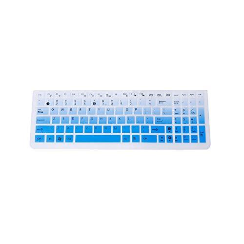 1 Silikon-Tastaturabdeckung, Displayschutzfolie, für Laptop, Silikon, Schutz für Asus K50 Gradient Blue