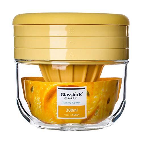 Mr. Fragile Multifunktion Blender/Mixers, Babynahrung Mahlbecher/Manuell Entsafter, Leicht zu reinigen,Mikrowelle zur Verfügung, 300ml,Yellow