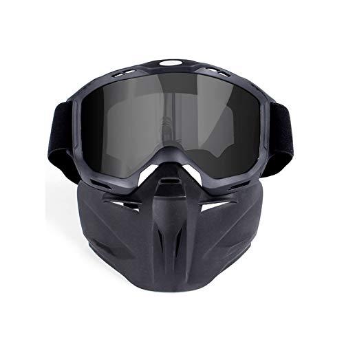 Blisfille Schutzbrille Werkstatt Outdoor Gesichtslokomotive Gesichtsmaske Schutzbrillen Motorradhelm Off Road Schutzbrillen Gray Lenses Damen Herren
