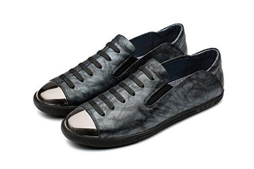 OPP Classic Scarpe da Uomo Vera Pelle Scarpe Blue-5