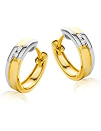 diamada – Gold 585/1000) Earrings Diamonds 0.04 Carat mf4005e