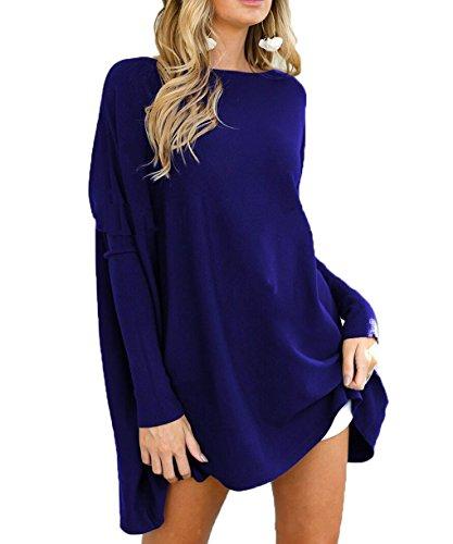 LemonGirl Frauen Fluff Long Sleeve Pure Pullover Shirts Damen Blusen (Tencel Großen T-shirt Hoch)