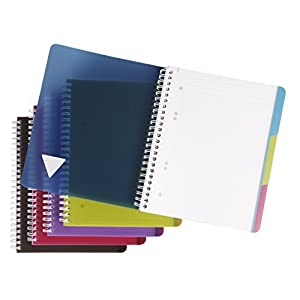 Clairefontaine 329755C Evolut Book A5 Squared with Margin, 90 Sheets Assorted Colours