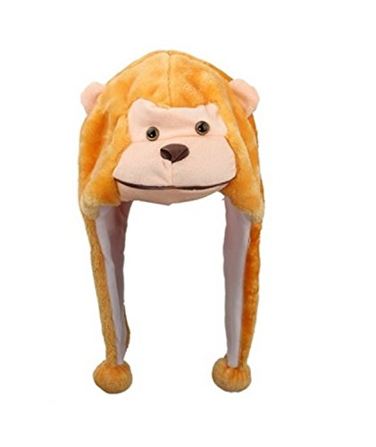 (Tiermütze Norwegermütze - Monkey Plüsch)