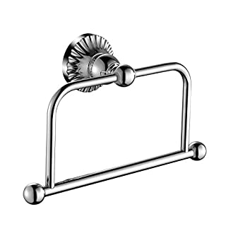 Aquatrend 5980 Bathroom Accessory Luxury Decor Chrome Finish Towel Ring WALL HANGING