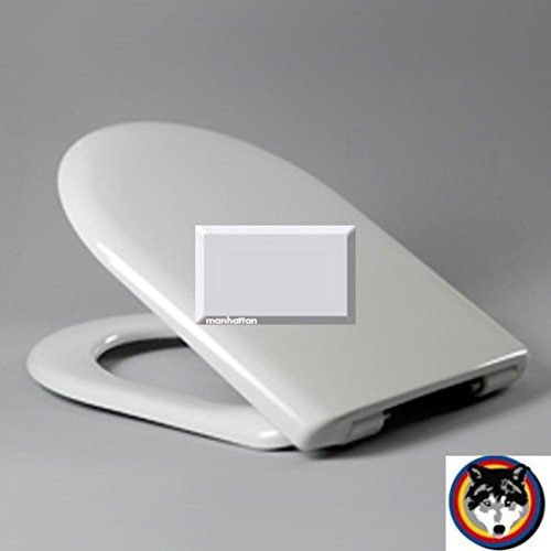 Wave SoftClose Premium WC-Sitz Manhattan Scharnier Klappdübel C0702G passend zu Keramag Mango und Renova Nr.1 Comprimo