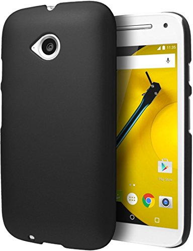 ImagineDesign WOW Imagine(TM) Rubberised Matte Hard Case Back Cover For MOTOROLA MOTO E 2nd Generation E2 (Black)