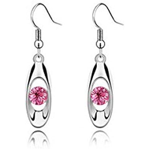 Orecchini pendenti in cristallo bianco puro placcato oro rosa cristallo austriaco orecchini pendenti Angelo Orecchini pendenti