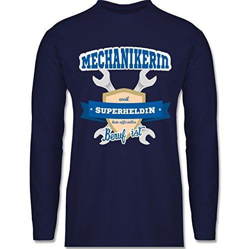 Shirtracer Handwerk - Mechanikerin - Weil Superheldin Kein Offizieller Beruf ist - Herren Langarmshirt Navy Blau