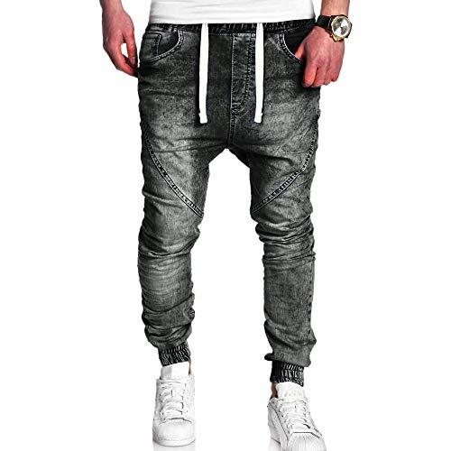 Moda Uomo Casual Vintage Elastic Wash Denim Slim Afflitto Pantaloni Jeans Uomo Sottile Biker Jeans Zip Denim Pantaloni Slim Fit Moto Vintage Denim