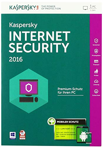 Pure-rest-bio - (Kaspersky Internet Security 2016 - 1 PC / 1 Jahr + Android Security (Frustfreie Verpackung))