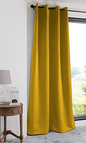 Lovely casa notte tenda oscurante, poliestere, senape, 140x 280cm