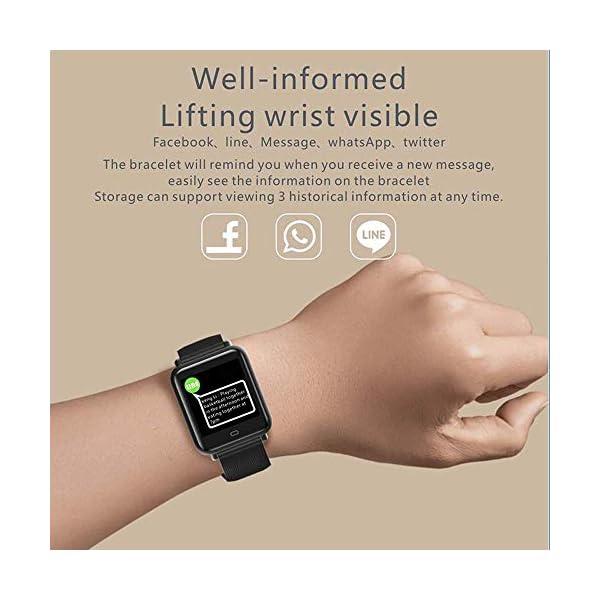Wysgvazgv Pulsera de Actividad Inteligente, Fitness Tracker con Monitor de Sueño Frecuencia Cardíaca Ritmo Cardíaco… 4