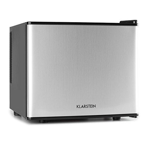 Klarstein Geheimversteck • Minibar • Mini-réfrigérateur • Réfrigérateur à boissons • A+ • 17 Litres • env. 38,5 x 33,5 x 41,5 cm (LxHxP) • Faible bruit de fonctionnement • 38 dB • Étagère • Argent