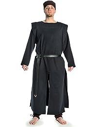 Hemad.De - Tunique Médiévale En Pur Coton - Noir