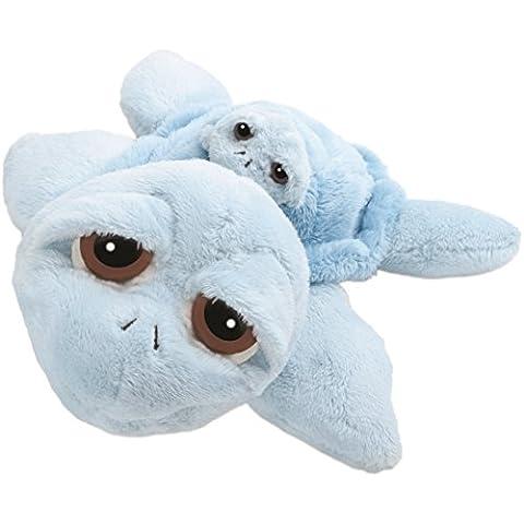 Suki 10026 - Peluche de mamá tortuga con bebé (30 cm), color azul