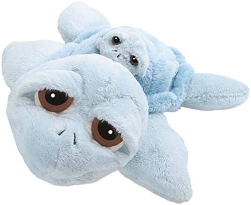 suki-10026-stofftier-schildkrte-reef-mama-mit-baby-30-cm-blau