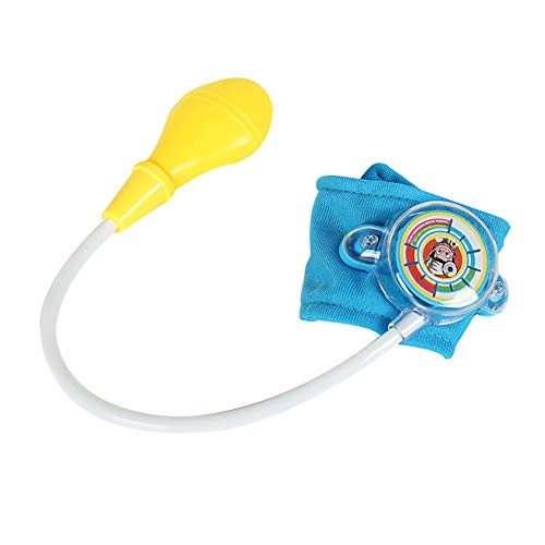 0Miaxudh Pretend Play Arzt Spielzeug, simulierte Blutdruckmanschette Monitor Doktor Pretend Play Kinder Bildung Spielzeug Blue (Arzt Puppe Junge)
