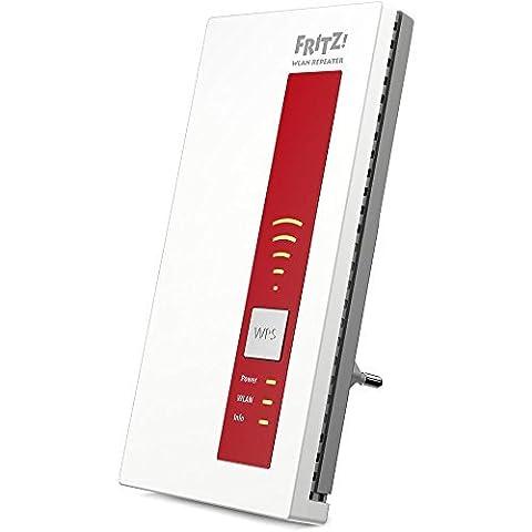 AVM FRITZ!WLAN Repeater 1160 (Dual-WLAN AC + N bis zu 866 MBit/s 5 GHz + 300 MBit/s 2,4 GHz), weiß, deutschsprachige Version