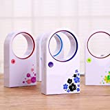 MICMAC Summer Portable Handheld Mini Air Conditioner Electric Bladeless Fan No Leaf Air