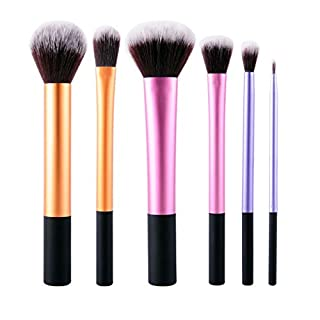 Make-up Pinsel Set inkl. 6 x Kosmetik Schmink Bürsten