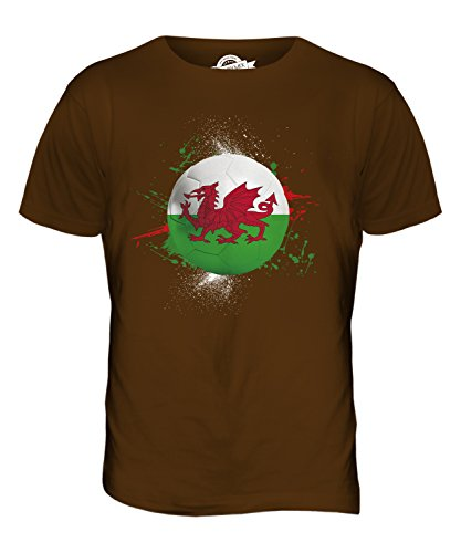 CandyMix Wales Fußball Herren T Shirt Braun