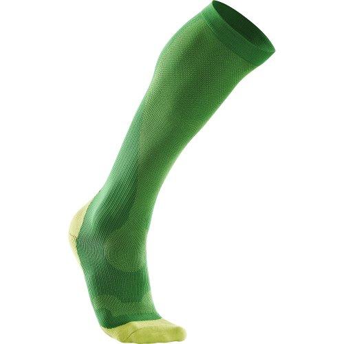 2XU Herren Compression Performance Socks Fern Green/Lime Green