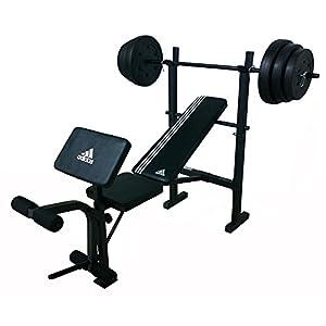 Adidas Hantelbank mit Gewichtsset 45 kg …