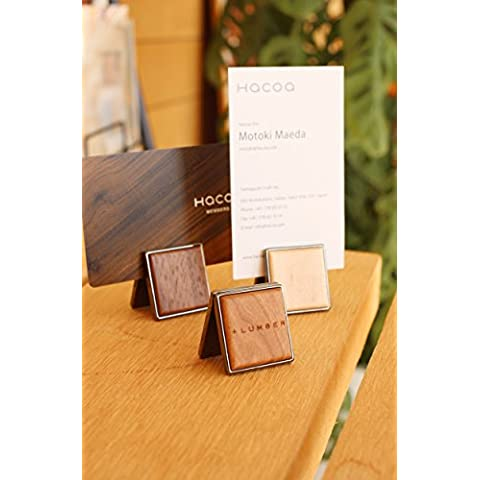+ Madera by hacoa pl024tarjeta Soportes fabricado con madera natural (3unidades) Stands Original con Arce, cereza y