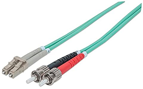 "intellinet 751117 Glasfaser LWL Fiber optic Kable ""duplex LC/ST (50/125) OM3"" 1m aqua"