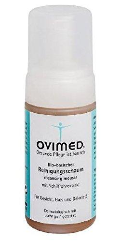 Ovimed Bio-basischer Reinigungsschaum, mit Schilfrohrextrakt, für Gesicht, Hals und Dekollete, 115ml