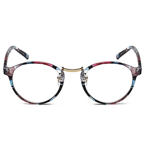 Sunching Lunettes de vue Clear Lens Wayfarer # 2214 Clourful