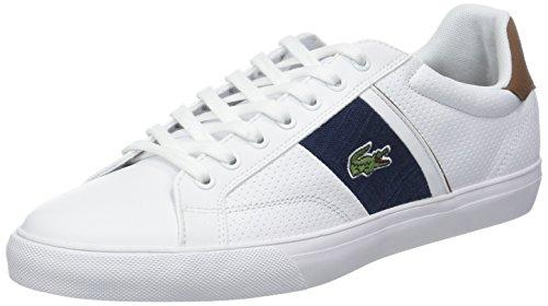 Lacoste Herren Fairlead 318 1 Cam Wht/tan Sneaker, Weiß 291, 44 EU