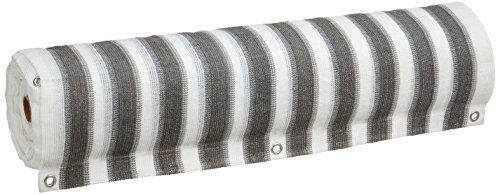 NOOR 0265-3 Rouleau brise-vue pour balcon avec œillets Gris/blanc 0,90 x 25 m