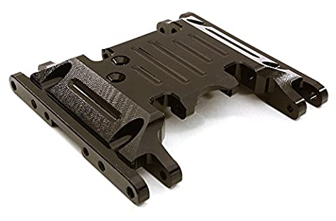 Integy RC Model Hop-ups OBM-1330BLACK CNC Machined Alloy Center Skid Plate for Axial 1/10 SCX10 II w/LCG Transfer Case