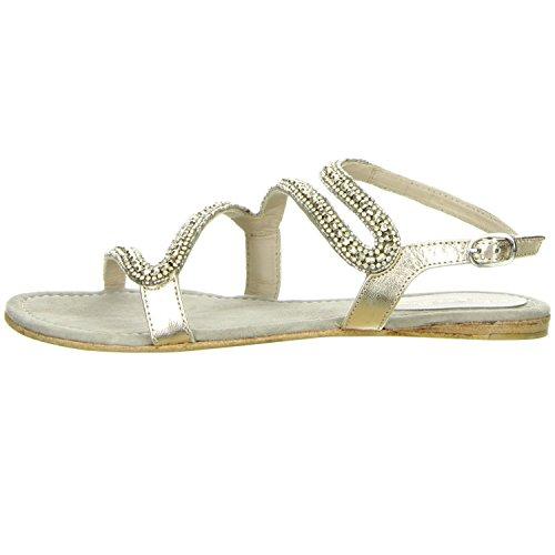 Alma en Pena Damen Sandaletten gold Gold