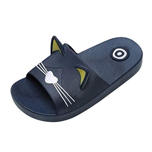 Beikoard Kinderschuhe Mädchen Jungen Hausschuhe Cartoon Cat Floor Familienschuhe  Strandsandalen Eltern Kind Schuhe Unisex-Kinder Badeschuhe