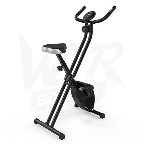 Hometrainer, X-Bike, zusammenklappbar, magnetisch, für Fitness, Cardio, Workout, Gewichtsabbau - 9
